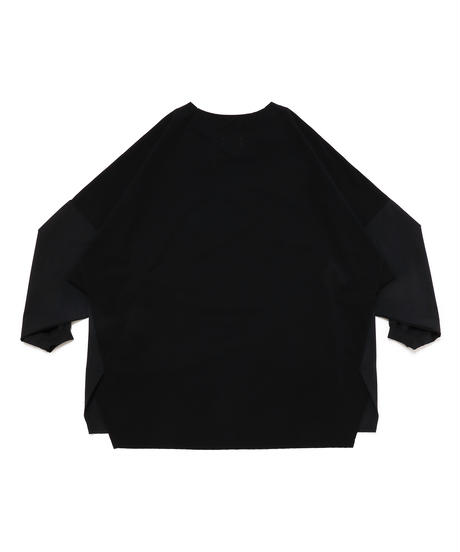 DOLMAN SEAM-LINE WIDE L-SLEEVE # c/BLACK