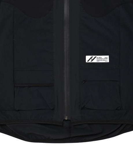 DOLMAN WIDE NYLON JACKET # c/BLACK