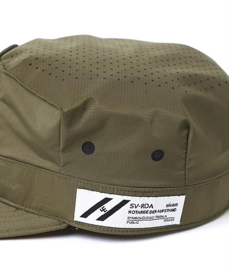 PUNCHING-HOLE BDU CAP # c/KHAKI
