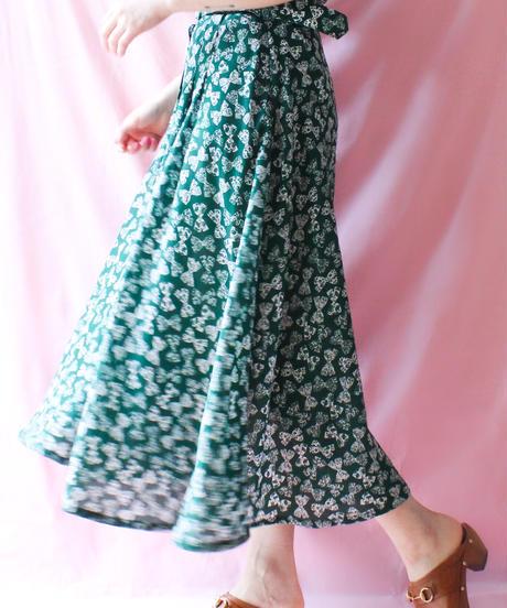 【tiny yearn】France Ribbon Pattern Long Dress