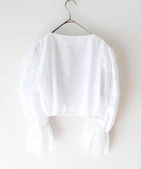 【Seek an nur】Euro White Lace Dirndl Blouse