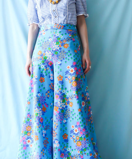 【tiny yearn】1960's Flower Flare Pants