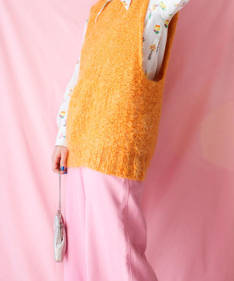 【tiny yearn】Hand Knit Mohair Vest