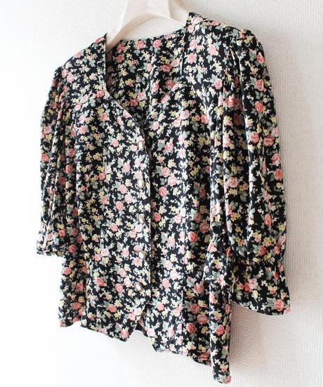 【Seek an nur】Euro Flower Puff sleeve Blouse