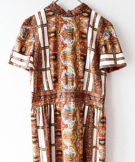 【Seek an nur】1970's Oriental Maxi Dress