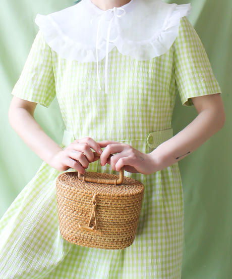 【tiny yearn】Gingham Check Long Dress
