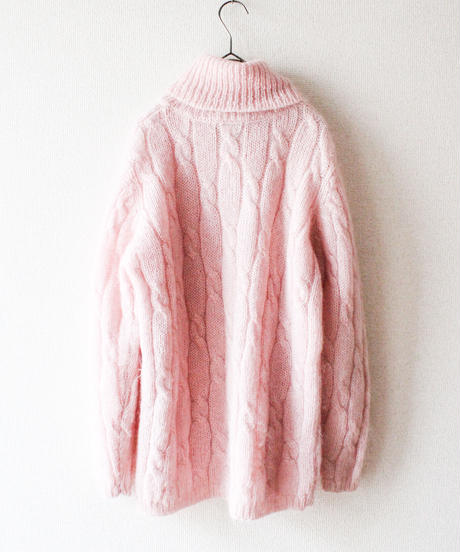 【tiny yearn】Baby Pink Turtleneck Mohair Sweater