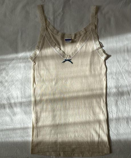 """【Sway】<Made in Switzerland """"SAWACO"""" Underwear> wool silk Camisole:Ivory"""