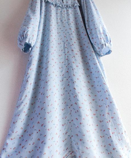 【Seek nur】Euro Flower Frill Long Dress