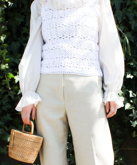 【Seek an nur】Euro Crochet Knit Vest