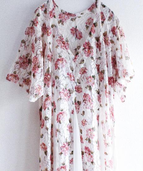 【Seek nur】Flower Lace Sheer Dress