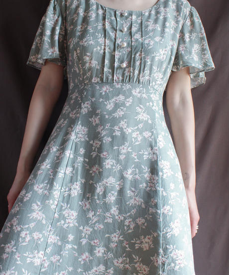 【Seek nur】Flower Rayon Long Dress