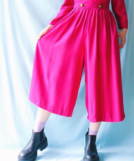 【tiny yearn】Big Collar Stripe Jumpsuit