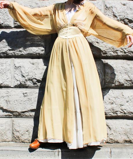 【Seek an nur】Vtg Silk Lingerie Night Gown