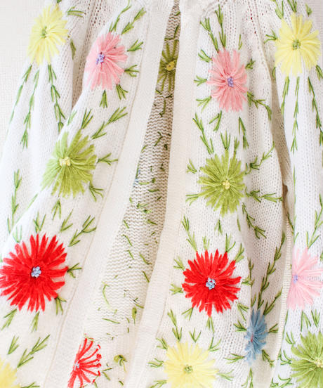 【tiny yearn】1970's Flower Embroidery Cardigan