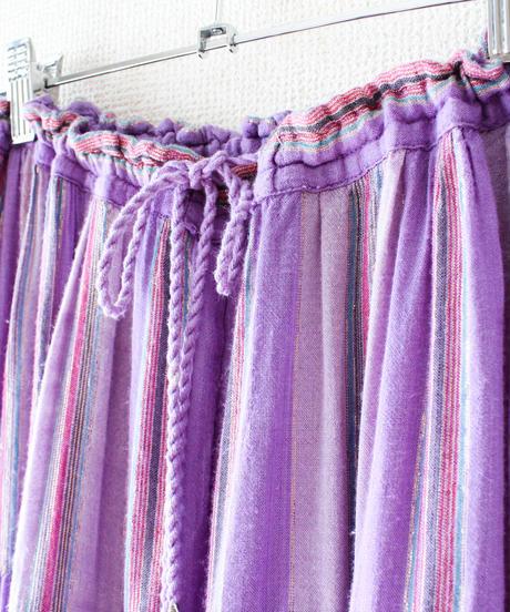 【Seek an nur】Metallic Stripe India Skirt