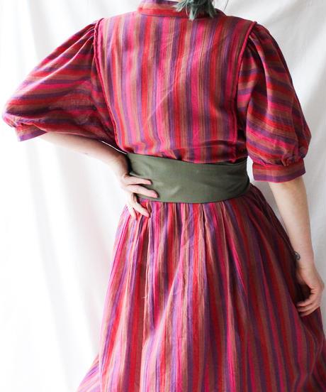 【Seek an nur】Euro Mulch Stripe Dress