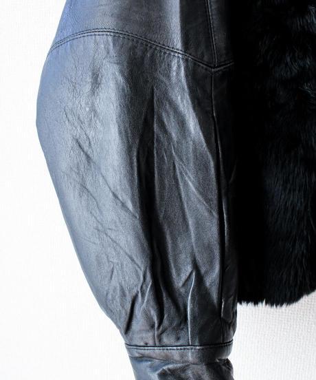 【Seek nur】Made in Spain Fur×Leather Over Jacket