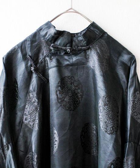 【Seek nur】Black Slit Design China Dress