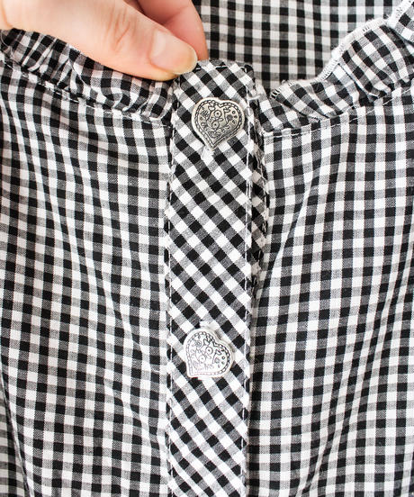 【Seek an nur】Germany Gingham check Blouse