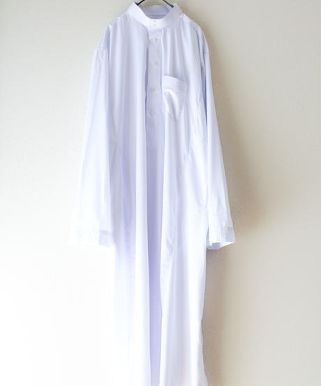 【Seek an nur】White Over Stripe Shirt Dress