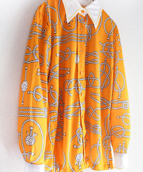 【tiny yearn】70's Rope  Design  Blouse