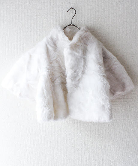 【tiny yearn】France White Faux Fur Jacket