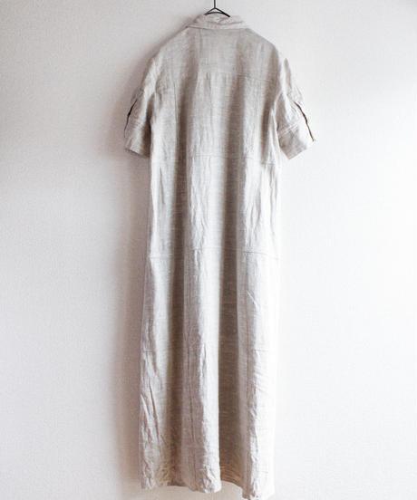 【Seek nur】Linen Long Shirt Dress