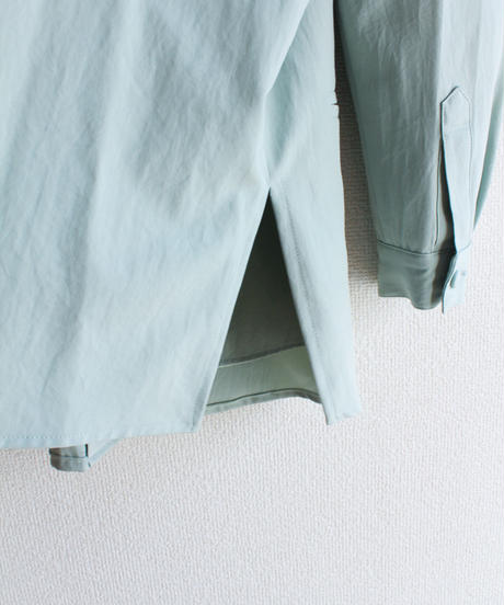 【Seek nur】Peal Green Over Long Blouse
