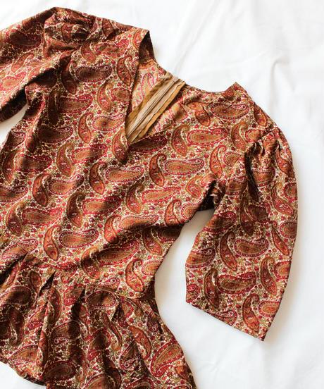 【Seek an nur】Paisley Peplum Handmade Tops