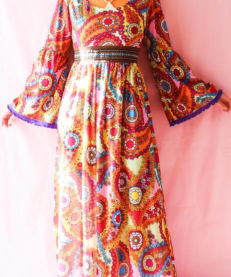 【tiny yearn】Flower Handmade Maxi Dress