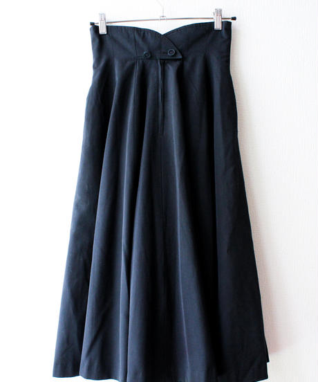 【tiny yearn】Black Flare Long Skirt