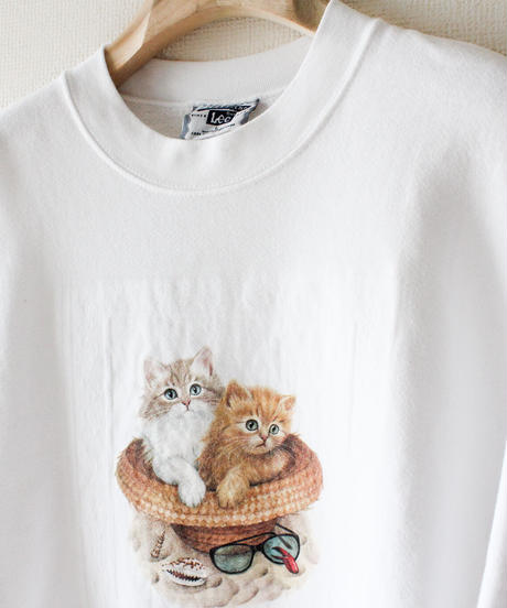 【tiny yearn】Lee Cats Print Over Sweat