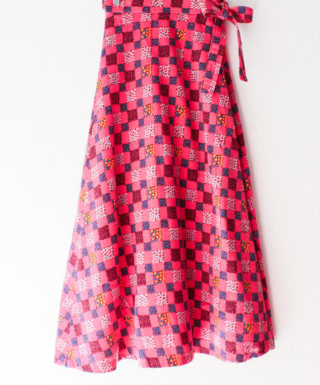 【tiny yearn】1970's Flower Wrap Wool Skirt
