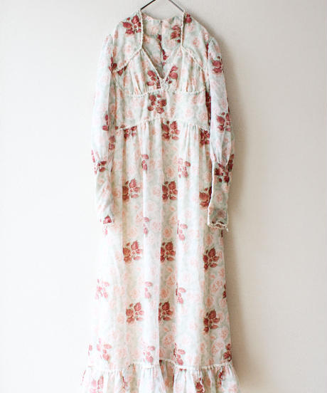 【Seek an nur】1970's Flower Sheer Maxi Dress