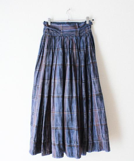 【Seek nur】Euro Check Flare Long Skirt