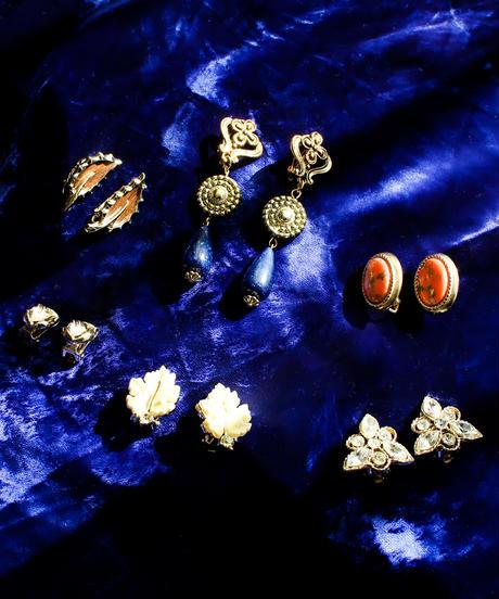 Vintage Gold Flower Perl Earring
