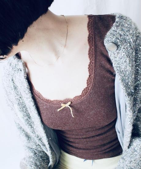 【Sway】<Made in JAPAN Underwear> AC&Wool L.sleeve:Brown & red