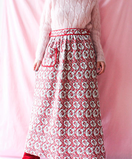 【tiny yearn】Flower Knit Long Skirt