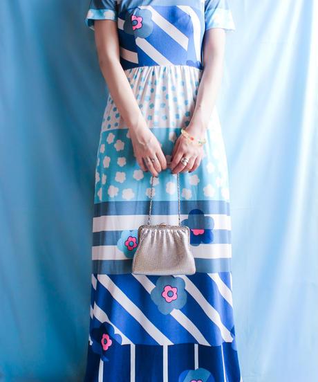 【tiny yearn】1970's Retro Flower Maxi Dress