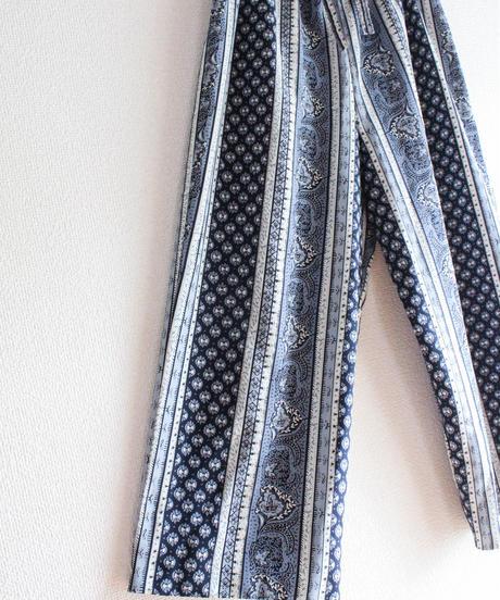 【Seek nur】Oriental Pattern Easy Pants
