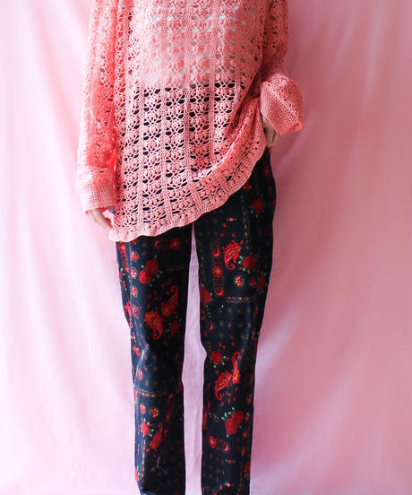 【tiny yearn】Euro Flower Tapered Pants
