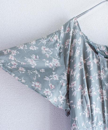 【Seek nur】Flower Rayon Long Dress
