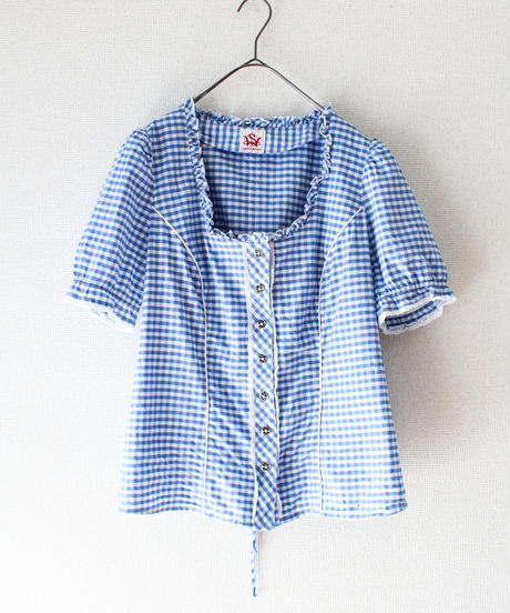 【tiny yearn】Euro Gingham check Blouse