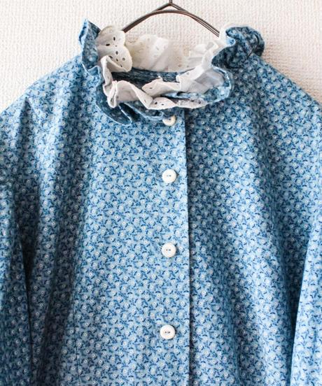 【Seek nur】Euro Puff Sleeve Flower Tyrol Dress