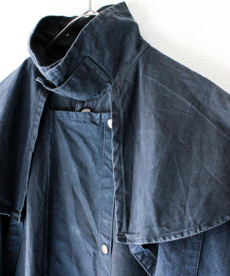 【Seek nur】Umbrella yoke Oil skin Coat
