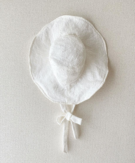 【Sway】<White embroidery Flowers> Boonie Hat