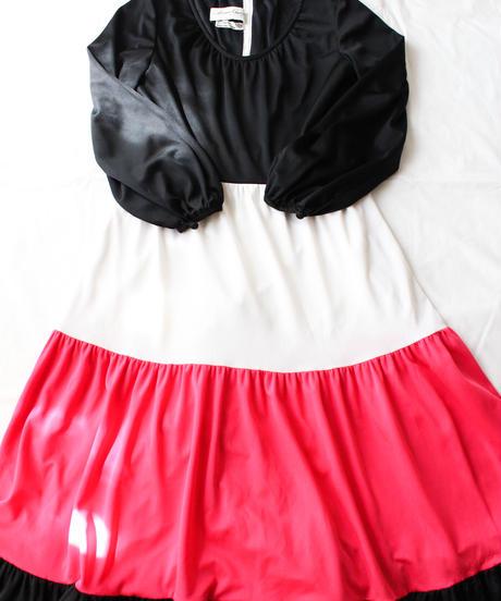 【Seek an nur】Euro Tiered Jersey Maxi Dress