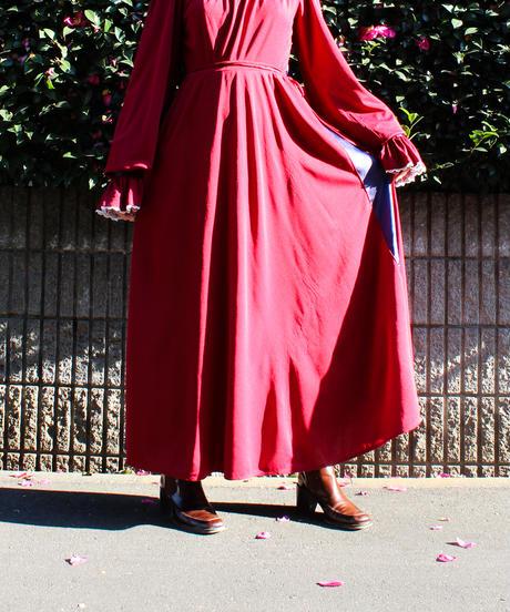 【Seek nur】1970's Remake Design Maxi Dress