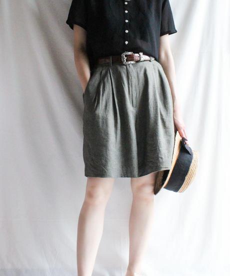 【Seek nur】Check Culotte Short Pants